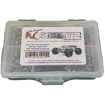 RCScrewZ Arrma RC Outcast 6s BLX Stainless Steel Screw Kit - arrm015: Toys & Games