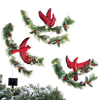 collections etc cardinal pine solar outdoor christmas decoration - Www Collectionsetc Com Christmas