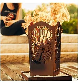 Ferrum Edelrost Feuerkorb Rolling Stones Licks rund