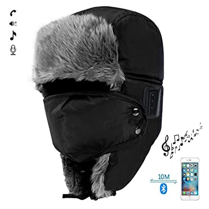 56af1f06d49 WAWEN Bluetooth Wireless Hat Winter Warmer Trooper Trapper Hunting Ski  Outdoor Sports Smart Cap Handsfree Speaker