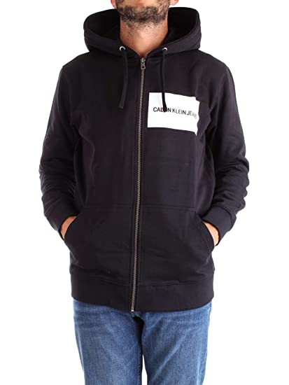 428f76afeead Calvin Klein - INSTITUTIONAL Logo Zip Through Hoodie  Amazon.co.uk  Clothing