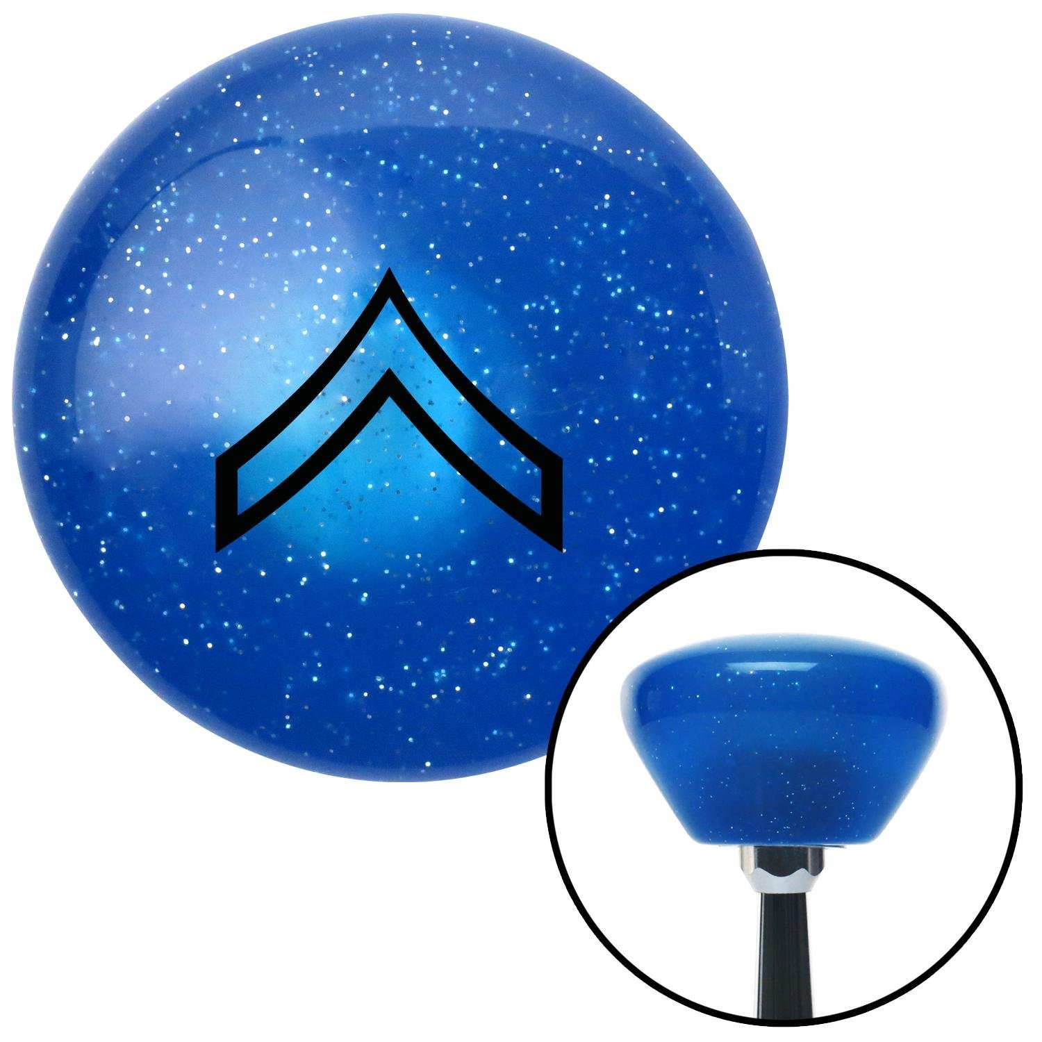 American Shifter 190493 Blue Retro Metal Flake Shift Knob with M16 x 1.5 Insert Black 01 Private First Class