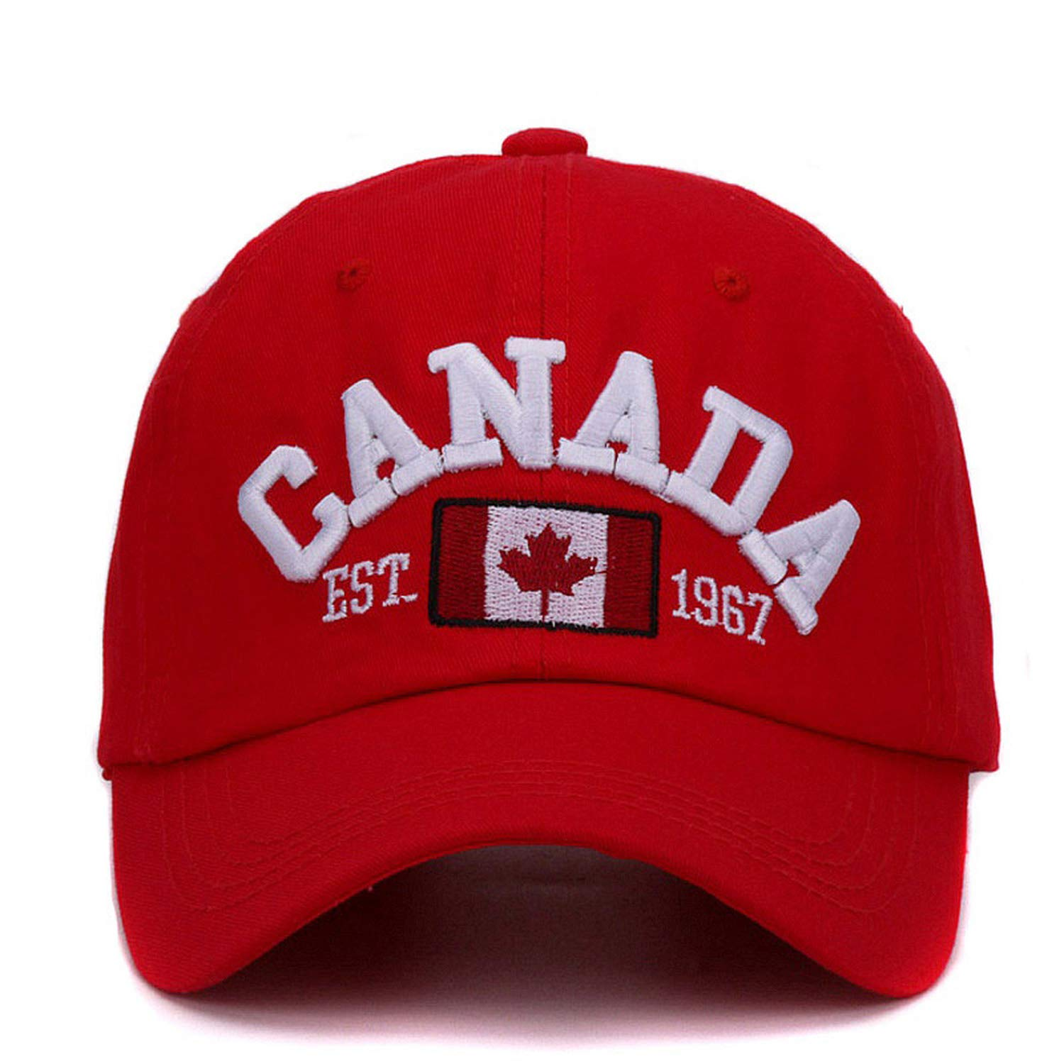 Feisette Canada Letter Embroidery Baseball caps Cotton Gorra Curved dad hat Leisure Outdoor Women Men Sports Cap