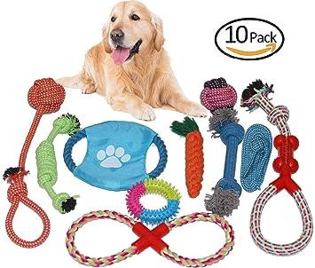 Amazon.com: DN_SJ2 – Cuerda para perros duradera, juguetes ...