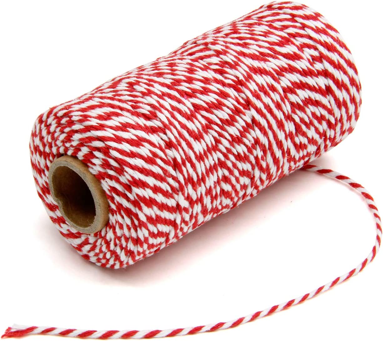 300 Feet Red and White Twine and 100 PCS Gift Tags Valentine/'s Day Heart Shape Kraft Paper Tags Price Tags by Blisstime red-1