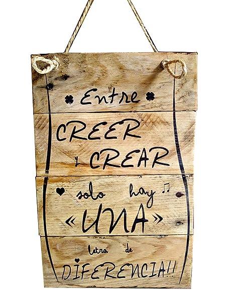 Cartel de madera decoracion, frases personalizadas, vintage ...