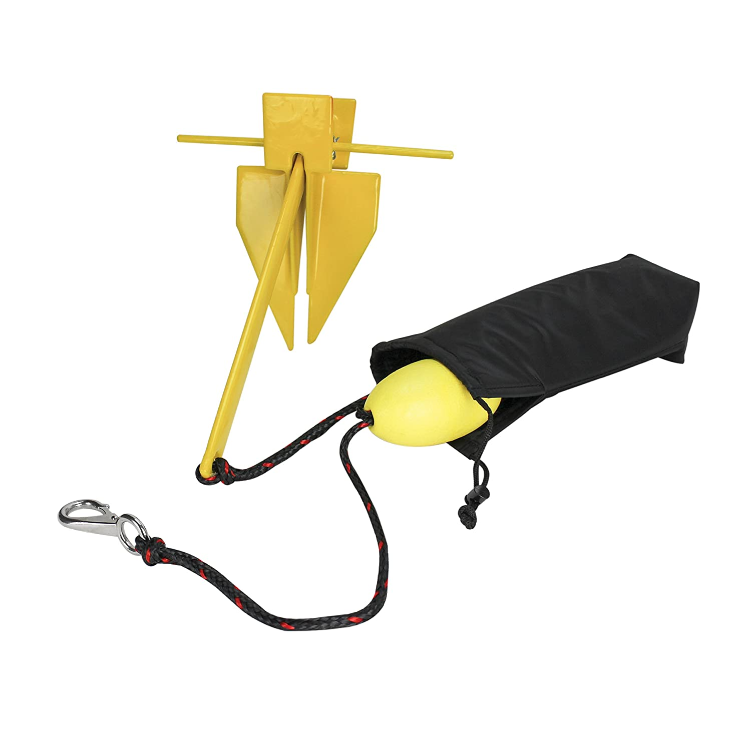 Anchor Line Storage Bag and Float Extreme Max 3006.6708 BoatTector Complete PWC Fluke Anchor Kit with 25 Anchor Line 3 lb.