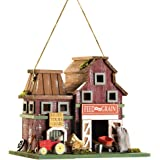 Gifts & Decor Country Farmstead Rustic Barnyard Wooden Bird House