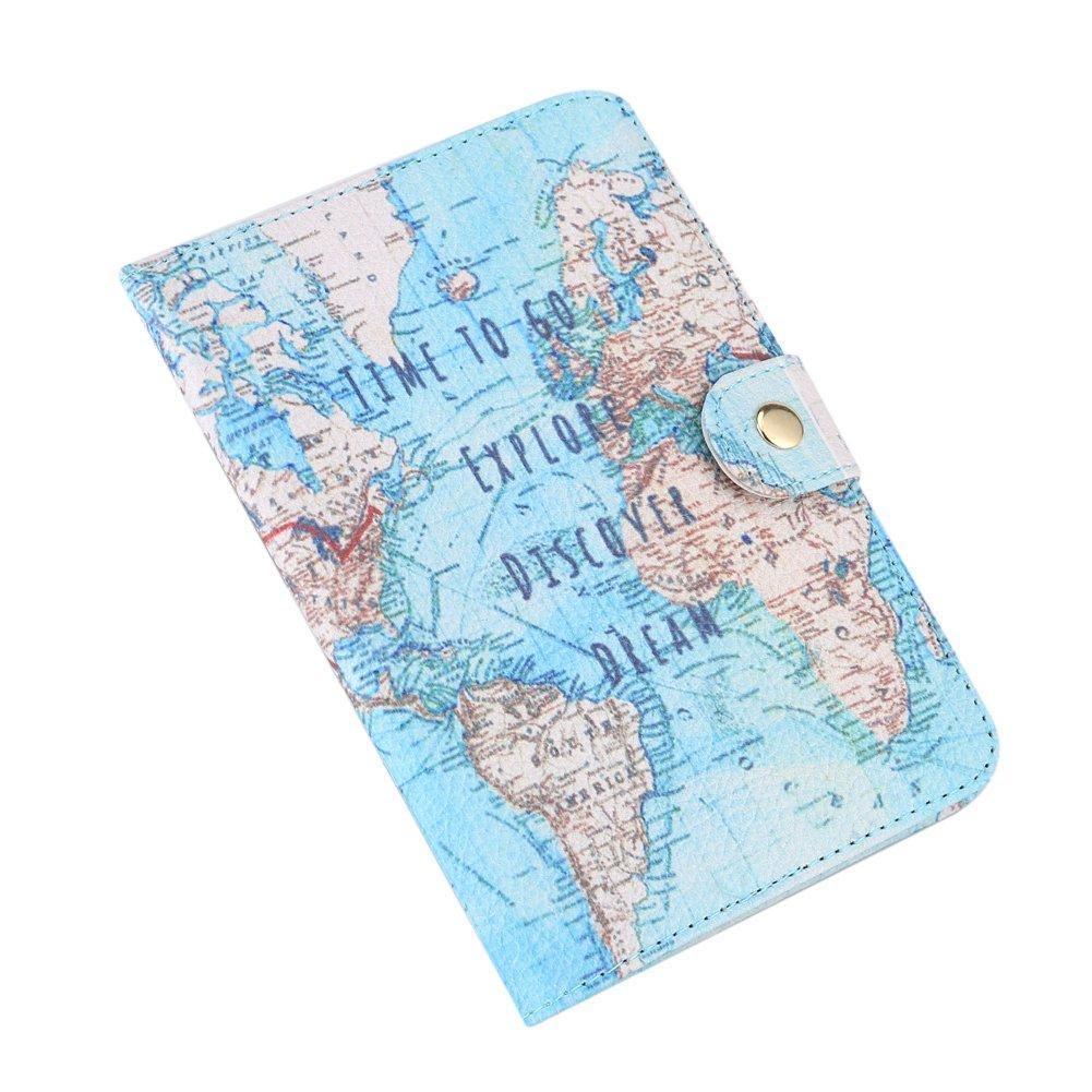 GLOGLOW Cas de Passeport Impression Mignonne PU Porte-Passeport Housse Couverture de Protection Voyage Protecteur Portefeuille Pochette é tui de Protection(#Eye)