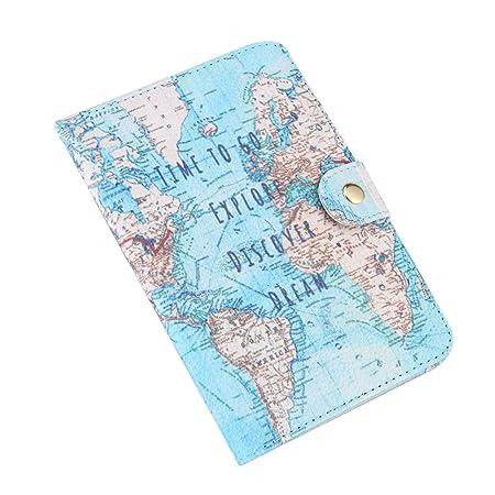 GLOGLOGLOW Reisepasshülle aus PU-Leder mit niedlichem Aufdruck