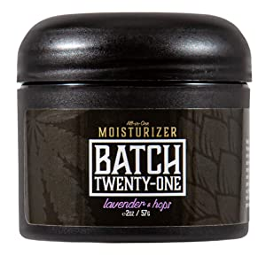 Batch Twenty-One All Natural Moisturizer | Face, Body, and Hands (Lavender & Hops, 2 oz)