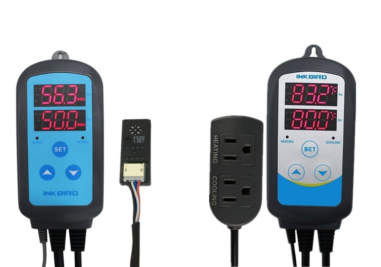 Inkbird Combo Set Humidity Controller IHC200 + Temperature Controller ITC308, ITC306T, ITC310TB ITC310T (IHC-200 + ITC-308) Lerway Tech COMINHKPR123869