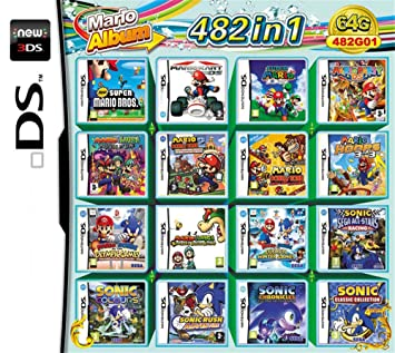 482 Juegos en 1 NDS Game Pack Card Super Combo Cartridge ...