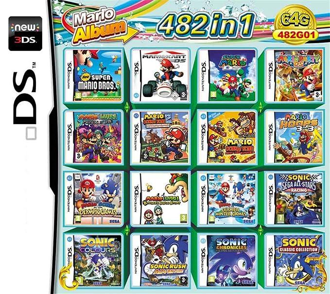 482 Juegos en 1 NDS Game Pack Card Super Combo Cartridge para NDS ...