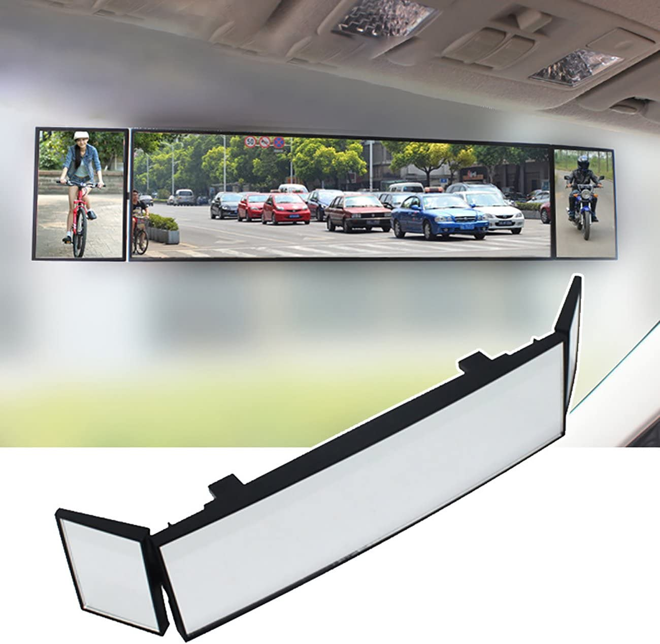 Interior Clip-on Wide Angle Rear View Mirror to Reduce Blind Spot Effectively for more car Universal SUV Trucks Panoramic Convex Rearview Mirror JoyTutus Rear View Mirror 11.81