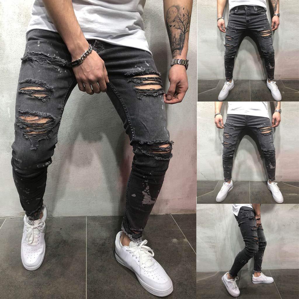 Amazon.com: Mens Skinny Jeans Slim Fit Stretch Spring ...