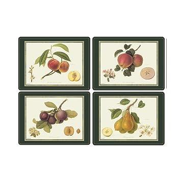 Amazon.com: Pimpernel Hooker Fruits Placemats - Set of 4 (Large ...