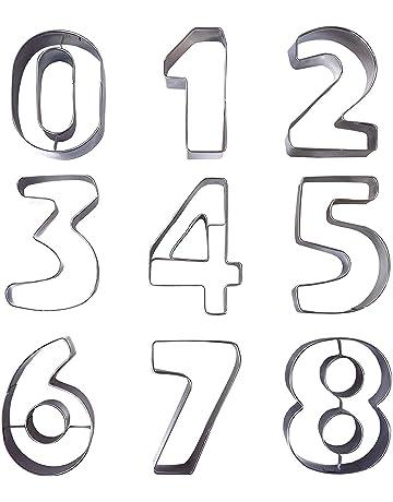 Kurtzy 9 Piezas Cortador de Galletas Número - Moldes Galletas Números Grandes 0-9 para