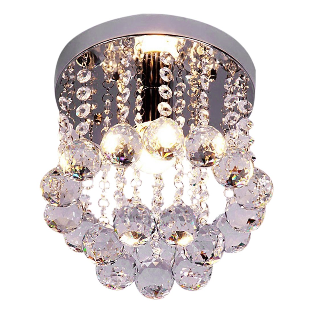 Retro Ceiling Light - TOOGOO(R) Retro Luxury Flush Mount Crystal Pendant Ceiling Light Chandelier Lighting HQ