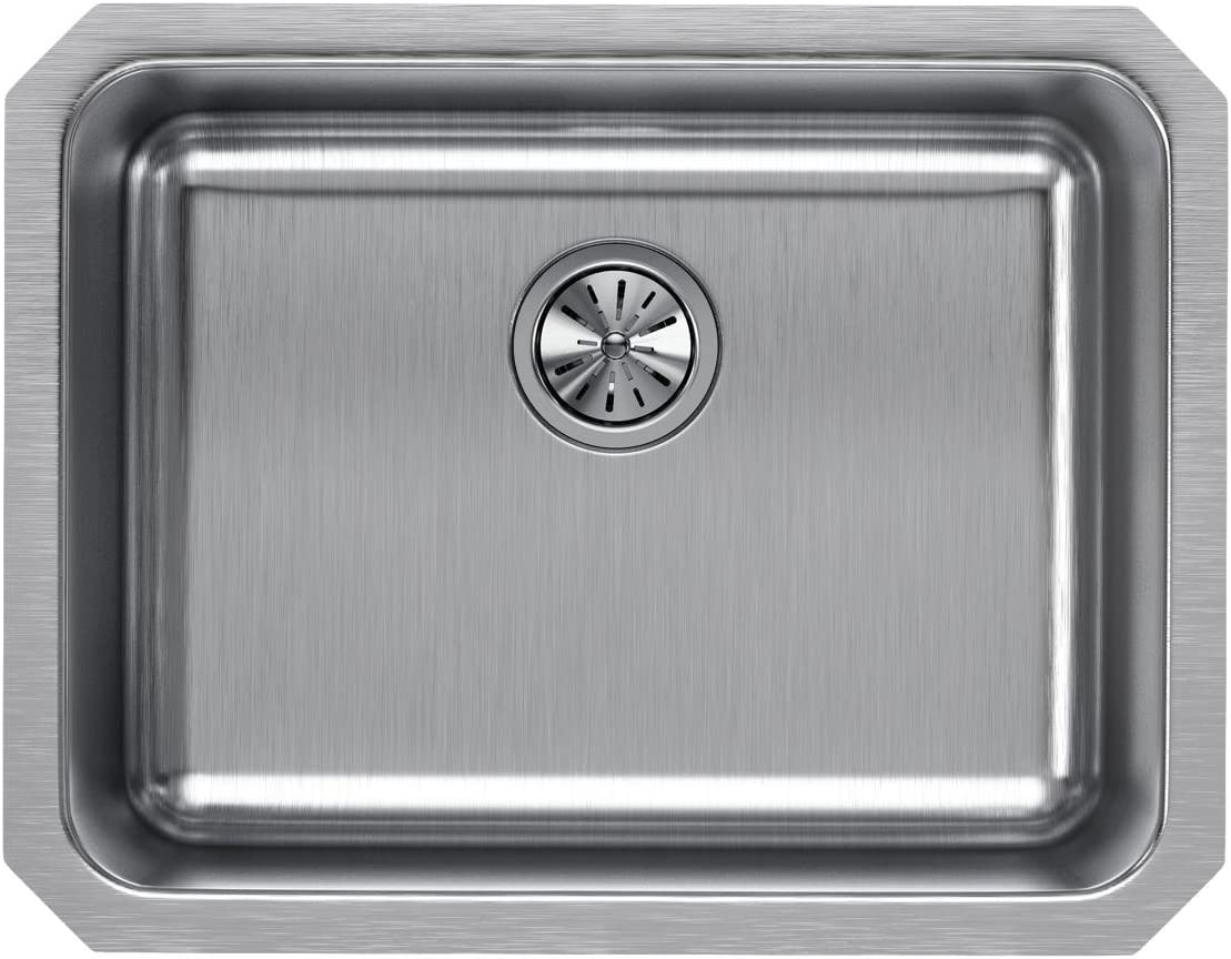 Elkay ELUH211510 Lustertone Classic Single Bowl Undermount Stainless Steel Sink