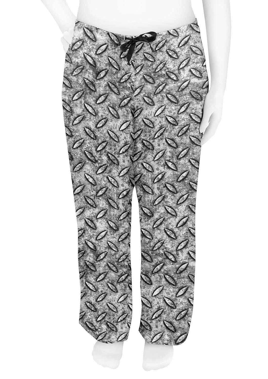 Grey Personalized S Diamond Plate Womens Pajama Pants