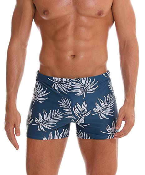 e817190c7d0a Men Briefs Swimsuit with Removable Pad Printed Leg Compression Swim Shorts  Quick Dry Boxers Swim Trunks US L: Amazon.ca: Luggage & Bags