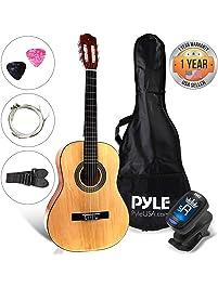 "Beginner 30"" Classical Acoustic Guitar - 6 String Junior Linden Wood Traditional Guitar w/ Wooden Fretboard, Case Bag..."