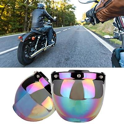 Motorcycle Wind Shield Helmet Lens Sun 3-Snap Visor Full Open Face Flip Up US