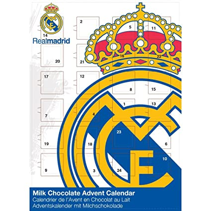 Weihnachtskalender Real.Adventskalender Real Madrid Fußballkalender Fanartikel 65g Amazon