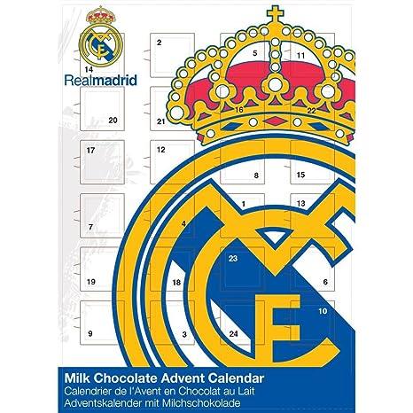 Adventskalender Real Madrid Fußballkalender Fanartikel (65g): Amazon ...