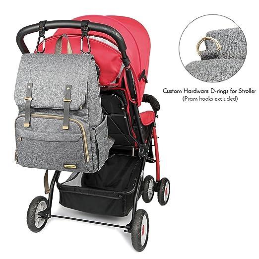 Amazon.com: Mochila para pañales, bolsas grandes para bebés ...