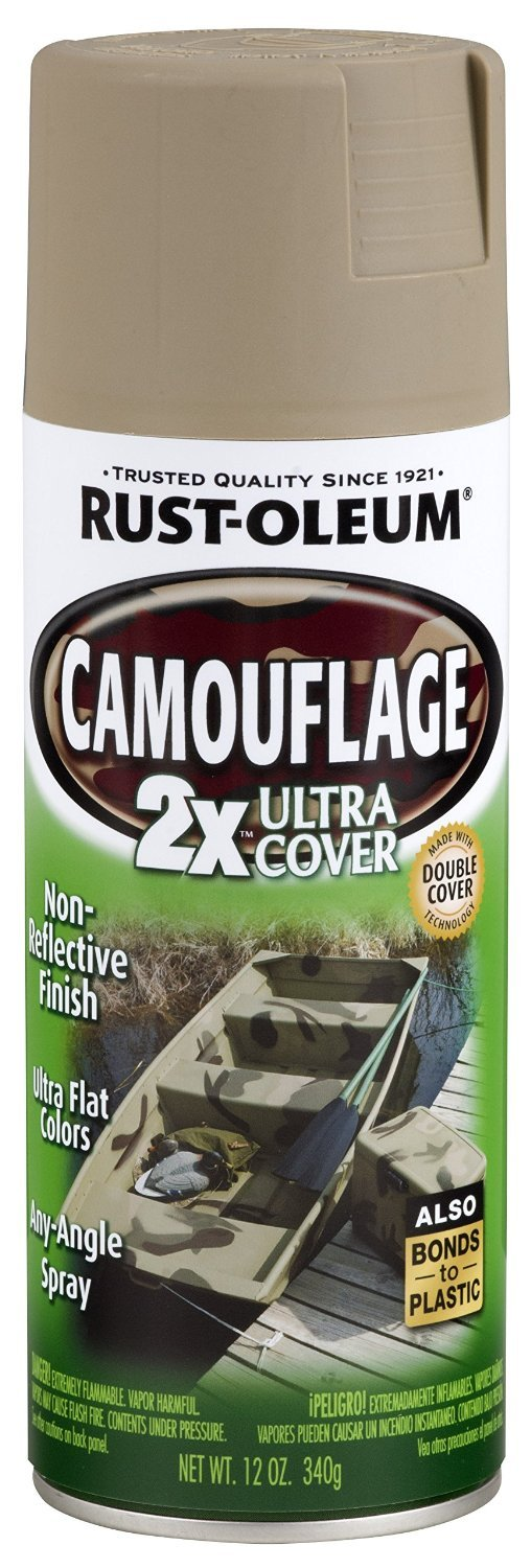 Rust-Oleum 279177 Specialty Camouflage Ultra Cover 2X Spray Paint, 12-Ounce, Khaki - 2 Pack