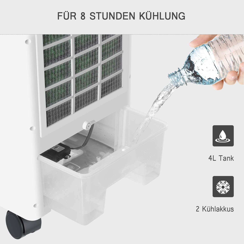 Famgizmo Aire Acondicionado, 4 en 1 Móvil Climatizador Evaporativo Ventilador Humidificador Purificador, con Ruedas y Tanque de Agua 4L, 3 Velocidades: Amazon.es: Hogar