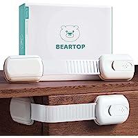 Babyladeslot van BEARTOP | Stevige grip (> 15 kg) | 3M lijm | Universeel slot, kinderslot, babyslot | Slot voor kasten…