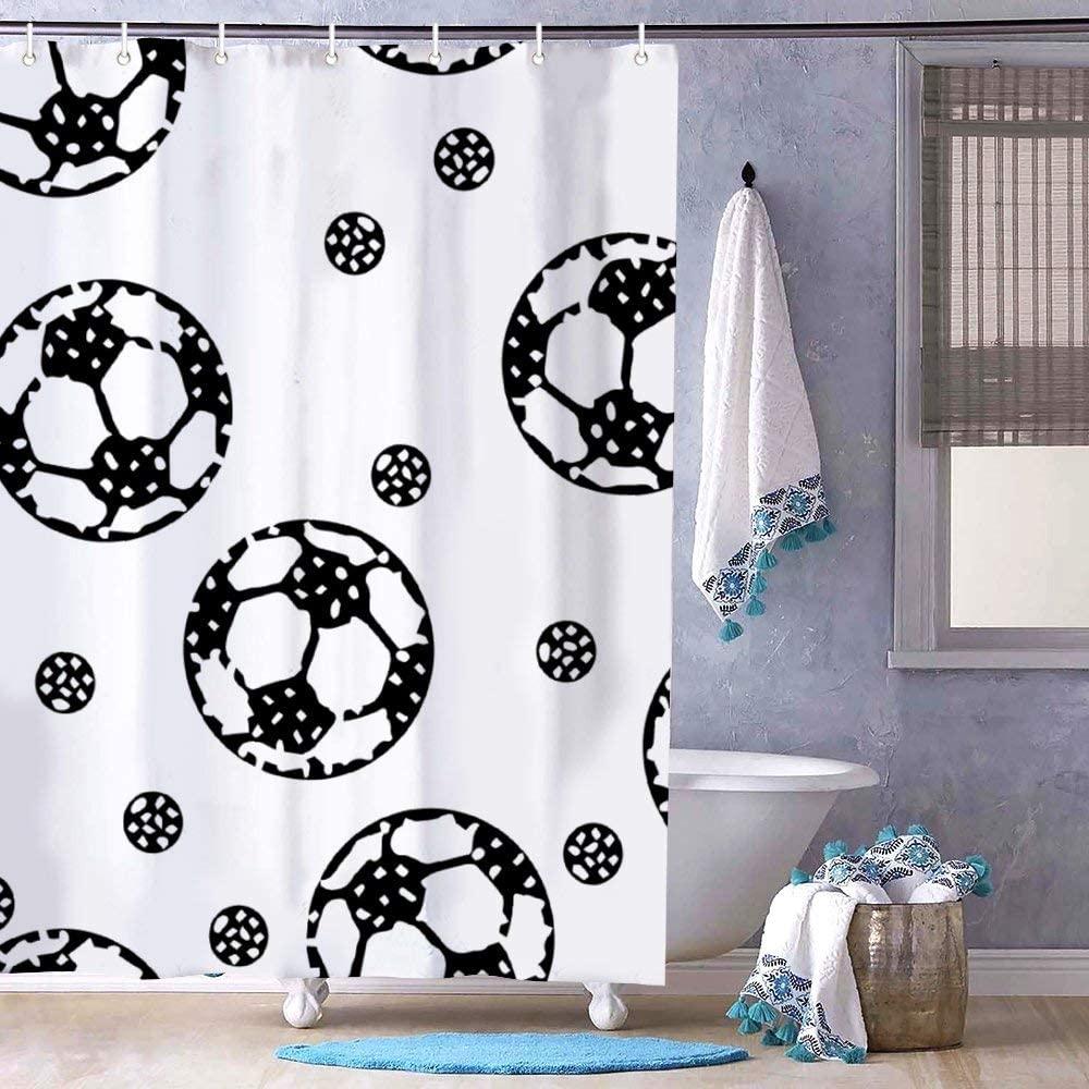 Essen Nickel 5 Roller Shower Ball Curtain Hooks - Pack of