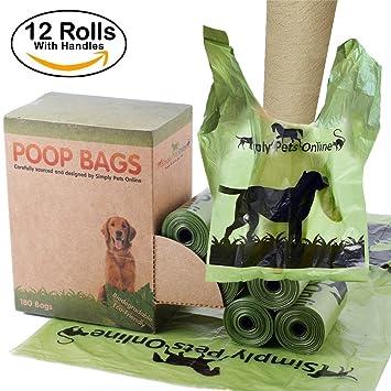 Biodegradable 180 bolsas de caca perro 12 rollos de 15 ...