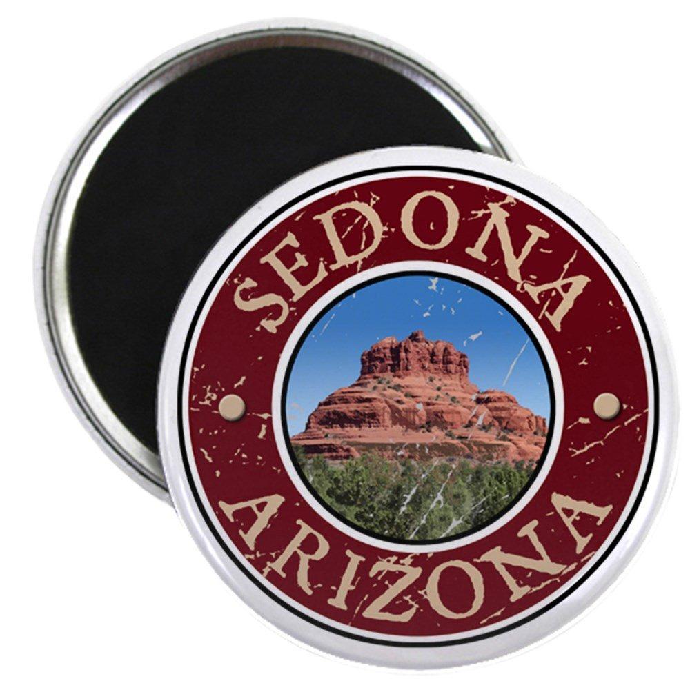 "CafePress Sedona, AZ - Bell Rock 2.25"" Round Magnet, Refrigerator Magnet, Button Magnet Style"