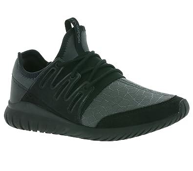 Adidas originali radiali j bambini tubolari scarpe neri