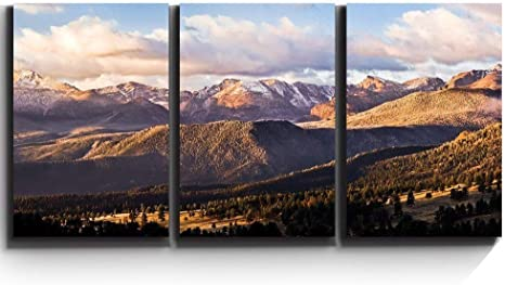 Amazon Com Wall26 3 Piece Canvas Print Contemporary Art Modern Wall Art Gorgeous Serene Mountain Wilderness Giclee Artwork Gallery Wrapped Wood Stretcher Bars Ready To Hang 16 X24 X3 Panels