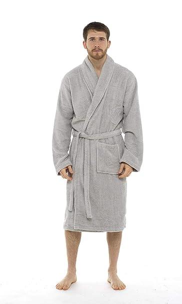 a77db23a0 CityComfort Bata de baño para Hombres Bata de algodón 100% Terry Albornoz  Albornoz Baño Ideal para Gimnasio Ducha SPA Hotel Bata Tamaño de ...