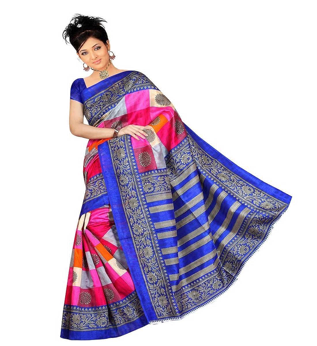 Muta Fashion Bhagalpuri Printed Ethnic Women Saree