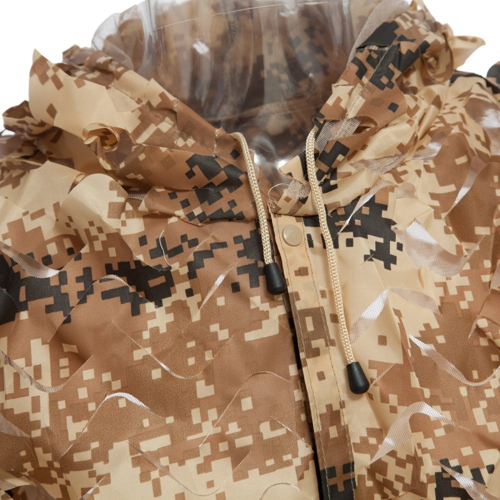 Durable Oxford Outdoor Woodland Sniper Ghillie Suit Kit Cloak Military 3d Leaf - Tan by Camp (Image #4)
