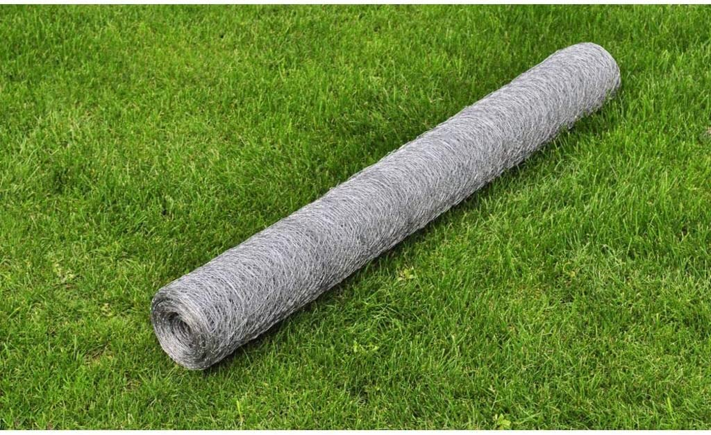 Festnight Hardware Cloth Galvanized Steel Mesh Wire Fence Metal Netting Wire Chicken Rabbits Poultry Pet Fencing Vegetable Garden Backyard Raised Flower Bed Fence Home Improvement Project 82 x 3