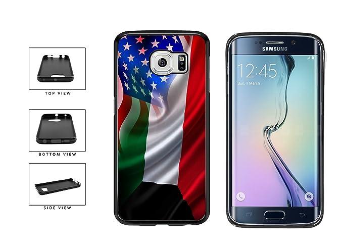 BleuReign(TM) Kuwait And USA Mixed Flag TPU RUBBER Phone Case Back Cover  Samsung Galaxy S7 Edge