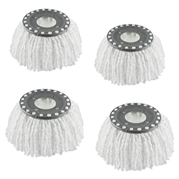 4 Replacement Mop Heads Refills for Universal 360° Spin Magic Mop, Hurricane Compatible Standard