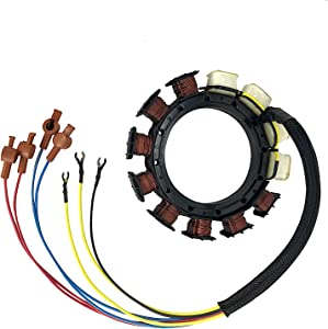 JETUNIT Genuine outboard 9 amp Stator assy Maganet Coil for Mercury 6 cyl 174-5456 398-5454A2 398-5454A6