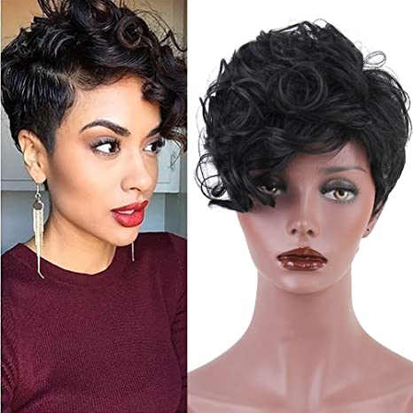 Beron Short Afro Curly Hair Wigs For Black
