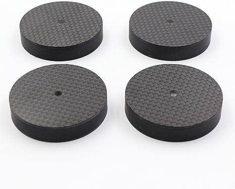 金色 4Pcs 4010mm Anti Vibration Amplifier Feet Black//Gold//Silver Aluminium Alloy Universal Speaker Spikes Pads Base Pad Anodizing Isolation Sand Blasting Amplifier Pads Feet.