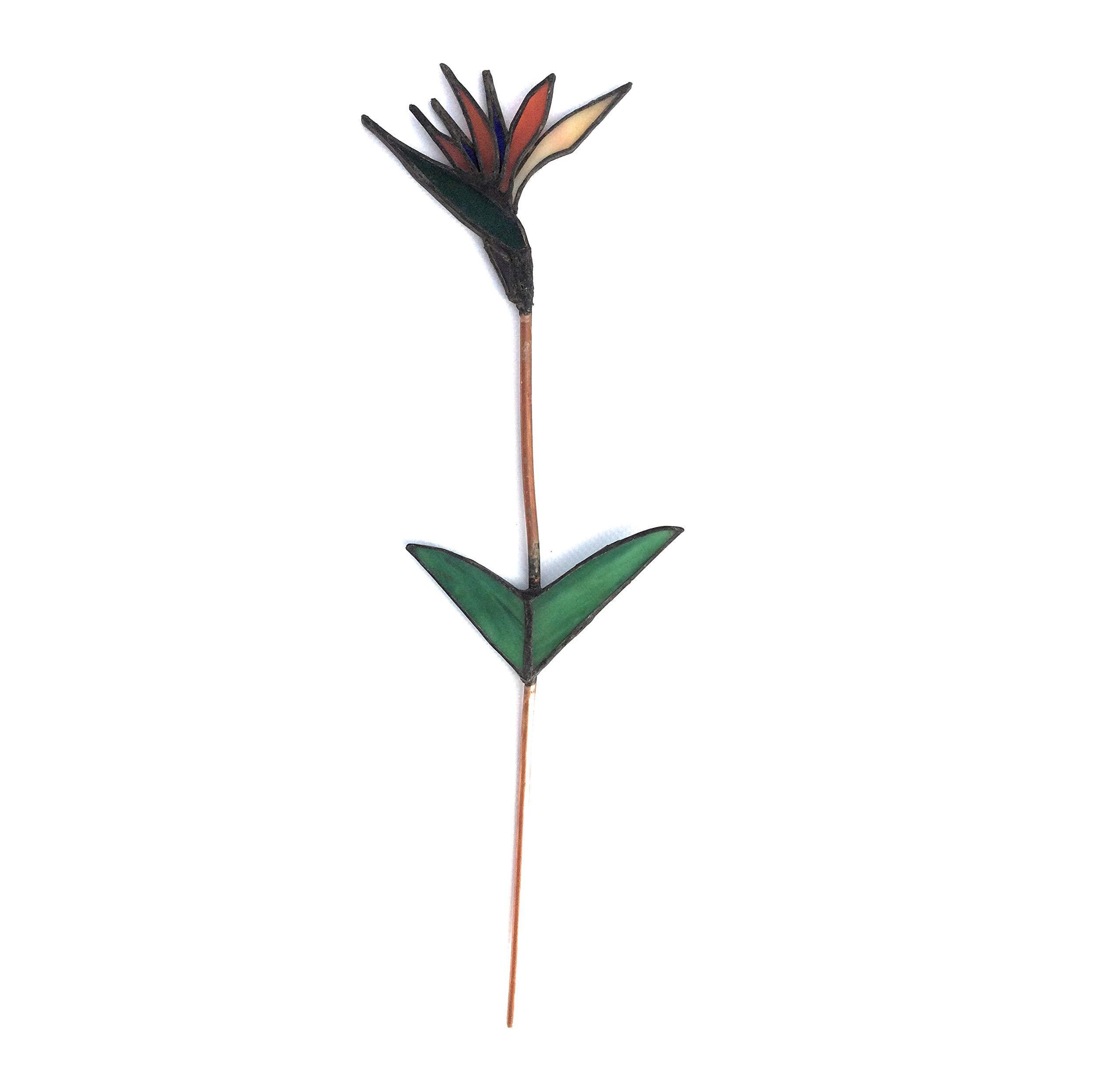 silk flower arrangements stained glass bird of paradise stem