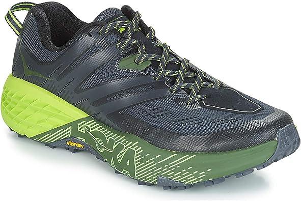 hoka Zapatillas Speedgoat 3 Trail Negro/Verde Talla 47 1/3: Amazon.es: Zapatos y complementos
